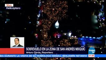 Miles de velas iluminan San Andrés Mixquic