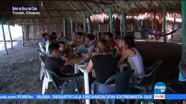 Restauranteros de Boca del Cielo, Chiapas, esperan a turistas para recuperarse