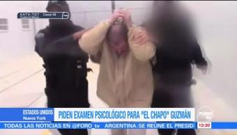 Abogado de 'El Chapo' Guzmán pide examen psicológico para su cliente