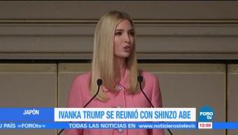 Ivanka Trump se reúne con Shinzo Abe en Japón