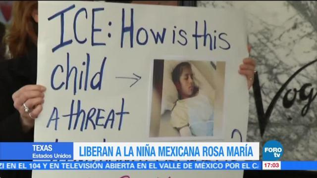 Liberan a la niña migrante con parálisis, Rosa María Hernández
