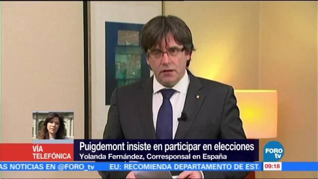 Puigdemont insiste en participar en elecciones