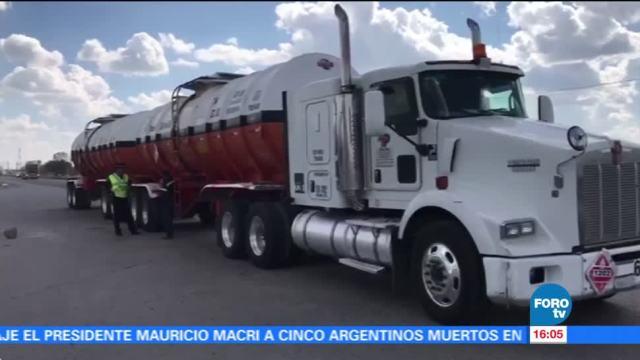 Policía Federal asegura pipa con diesel robado en Guanajuato