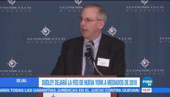 William Dudley anuncia su intención de dejar la Fed