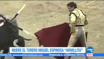 Muere el matador Miguel Espinosa 'Armillita