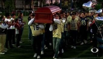 Homenaje al joven Zeferino Domínguez, Amigos y familiares lo despidieron