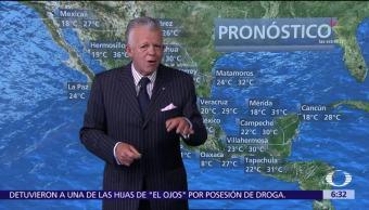 Despierta con Tiempo: Prevalece bajo potencial de lluvias en México