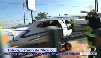 Avioneta aterriza de emergencia en Boulevard de Toluca