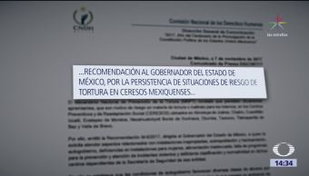 CNDH emite recomendación al Estado de México