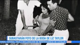 #LoEspectaculardeME: Subastarán foto de la boda de Liz Taylor