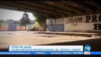 Fuga de agua en la Ciudad de México