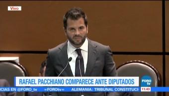 Comparece Rafael Pacchiano en la Cámara de Diputados