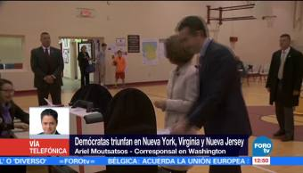 Reacciones en EU tras el triunfo de demócratas en elecciones regionales