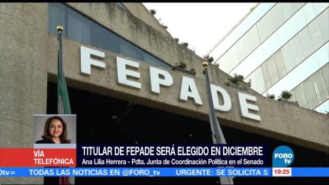 Titular de la Fepade será elegido en diciembre