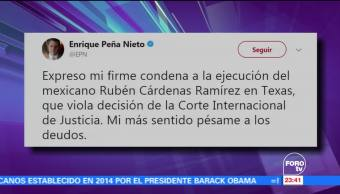 EPN envía pésame a los deudos de Rubén Cárdenas Ramírez