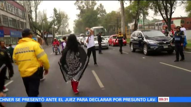 Damnificados por sismo protestan en Tlalpan