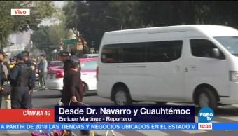 Damnificados por sismo bloquean avenida Cuauhtémoc y Doctor Navarro