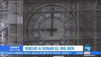 Vuelve a sonar el Big Ben en Londres
