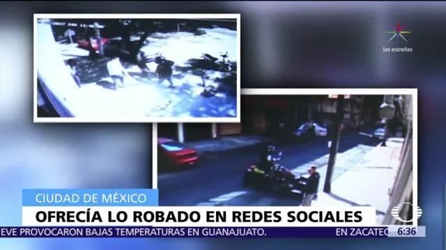 Detienen a ladrón que vendía objetos hurtados a través de redes sociales