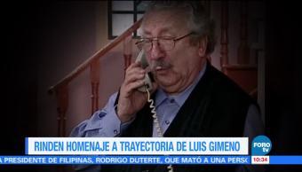 Amigos rinden tributo póstumo a Luis Gimeno