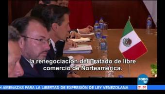 EPN impulsa libre comercio e integración económica