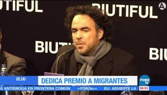 González Iñárritu dedica premio Oscar a inmigrantes