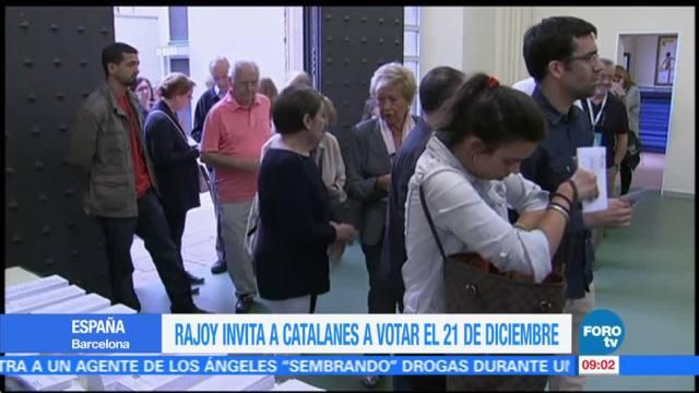 Rajoy invita a catalanes a votar el 21 de diciembre