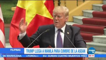 Trump llega a Filipinas para cumbre de la ASEAN