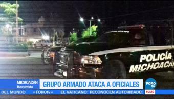 Grupo armado ataca a oficiales en Michoacán