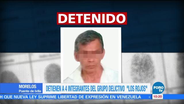 """Detienen a cuatro integrantes del grupo delictivo """"Los Rojos"""""""