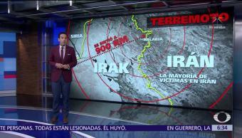 Terremoto de 7.3 sacude frontera de Irán e Irak