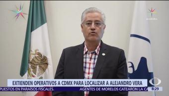 Extienden a la CDMX operativos para localizar a Alejandro Vera