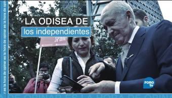La odisea de los candidatos independientes