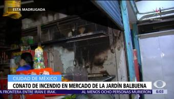 Conato de incendio en mercado de la Jardín Balbuena