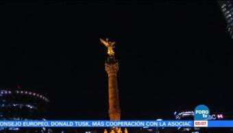 Monumentos se iluminan de naranja por Cumbre Mundial contra el Cáncer