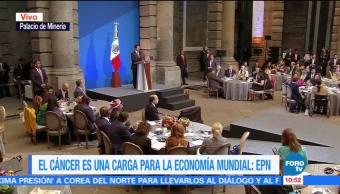 Peña Nieto inaugura la Cumbre Mundial de Líderes Contra el Cáncer