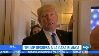 Trump regresa a la Casa Blanca