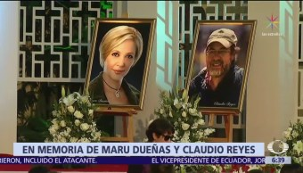 Grupo Televisa ofrece misa por María Eugenia Dueñas y Claudio Reyes