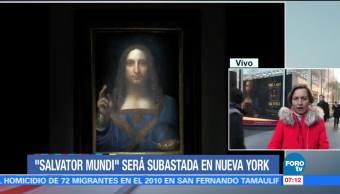 'Salvator Mundi', única pintura de Da Vinci, será subastada en Nueva York