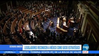 Legisladores reconocen a México como socio estratégico de EU