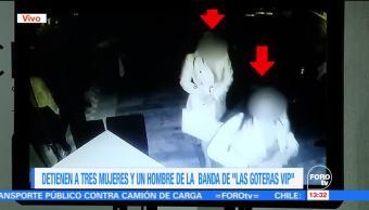 """Detienen a 3 mujeres de la banda denominada """"Las Goteras VIP"""""""