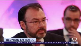 Luis Videgaray se reúne con Serguéi Lavrov en Moscú