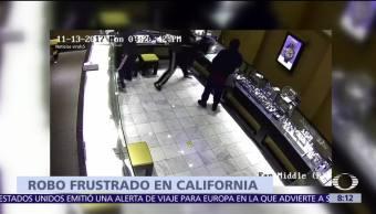Captan robo que fue frustrado en joyería de Estados Unidos