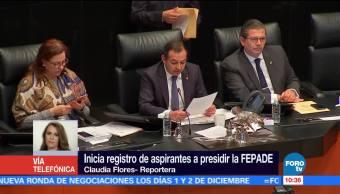 Inicia registro de aspirantes a presidir la Fepade