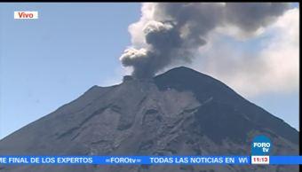 Volcán Popocatépetl emite fumarola de baja intensidad
