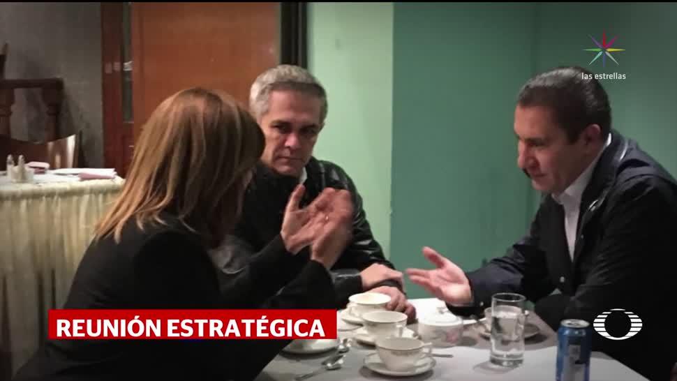 Se reúnen Margarita Zavala, Mancera y Moreno Valle