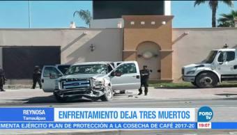 Federales y presuntos delincuentes se enfrentan en Reynosa hay tres muertos