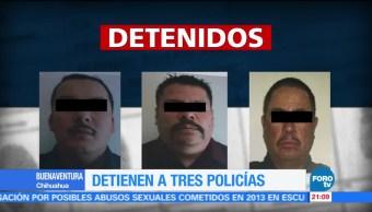 Detienen a tres policías por desaparición de dos personas en Chihuahua