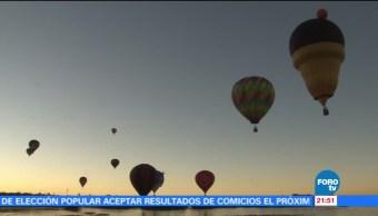 Realizan Festival Internacional del Globo en León, Guanajuato