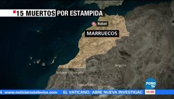 Mueren 15 personas por estampida humana en Marruecos